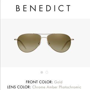 "Oliver People's ""Benedict"" Aviator Sunglasses"